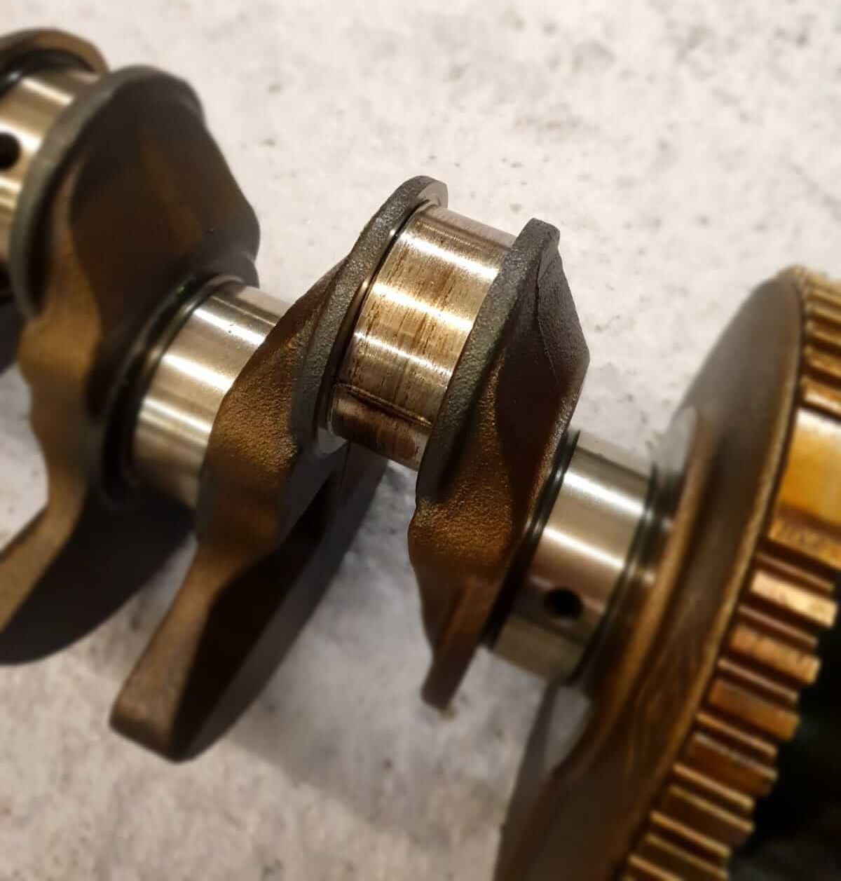 Beschädigte Kurbelwelle: Motorschaden beim BMW 116i N43B20